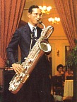The King an accomplished saxaphone player