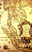 French map of Siam - 1686