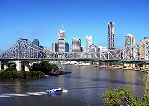 Brisbane CBD and the Story Bridge, Brisbane QLD.